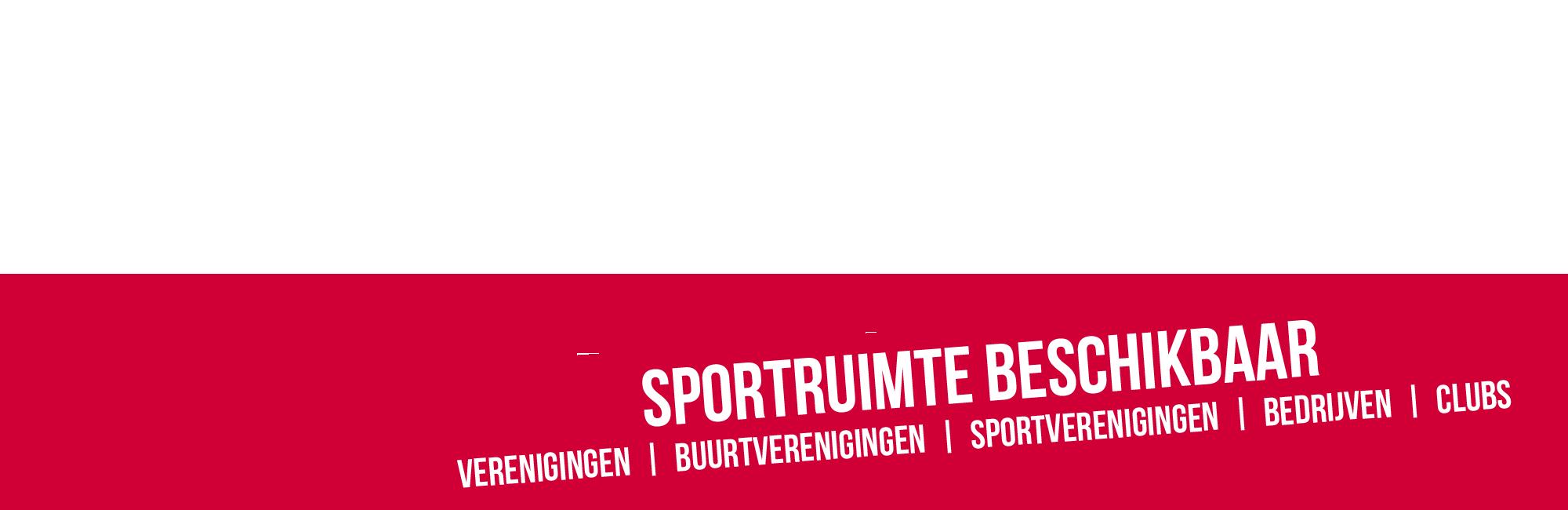 Sporthal beschikbaar